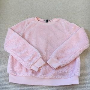 pink fuzzy long sleeve